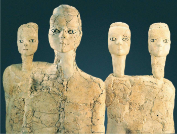 Figurines of white humanoid figures